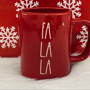 ⭐️2/25 Rae Dunn FA LA LA Red Ceramic Mug